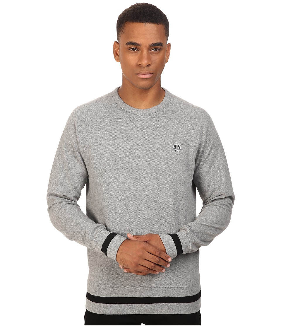 Fred Perry - Crew Neck Sweat (Steel Marl) Men's Long Sleeve Pullover