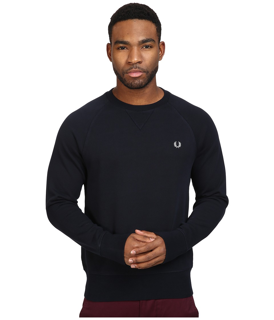 Fred Perry - Loopback Crew Sweater (Navy) Men's Sweatshirt