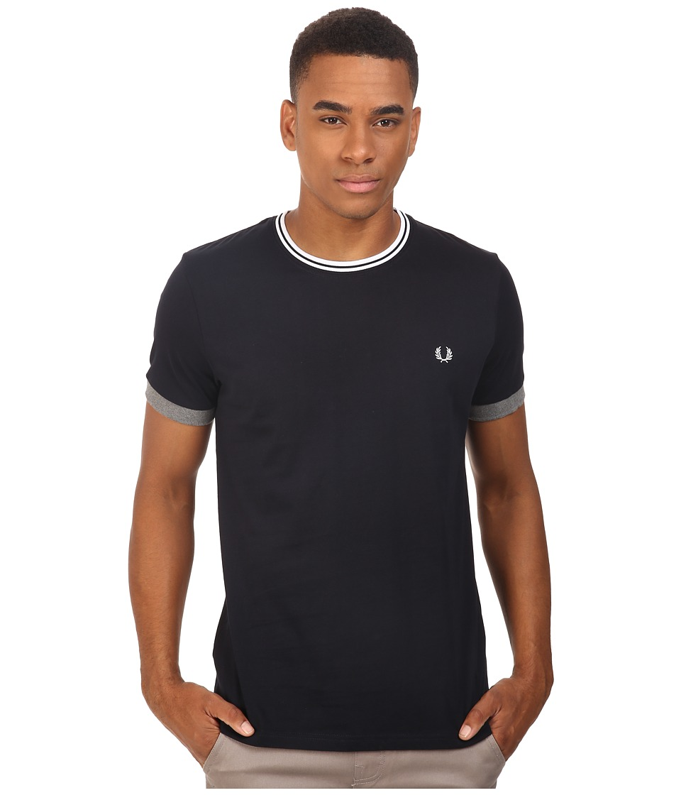 Fred Perry - Tipped Ringer T-Shirt (Navy) Men's T Shirt