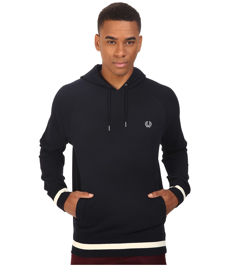 Fred Perry - Hooded Sweat (Navy) Men's Long Sleeve Pullover
