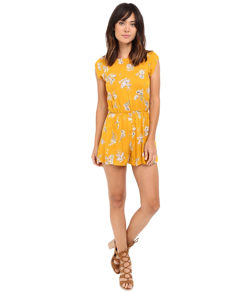 Billabong - Sweet Escape Romper (Honey) Women's Jumpsuit & Rompers One Piece
