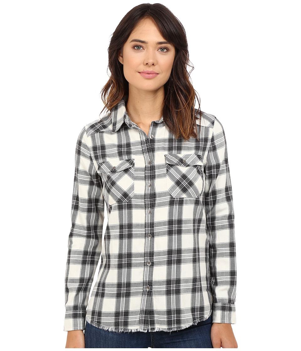 Billabong - Flannel Frenzy Top (White Cap) Women's Long Sleeve Button Up