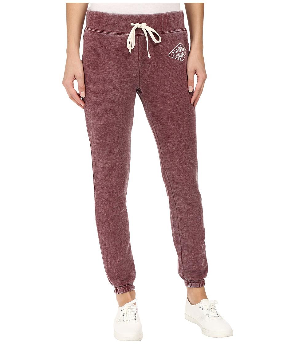 Billabong - Bench Warmer Pants (Mystic Maroon) Women's Casual Pants