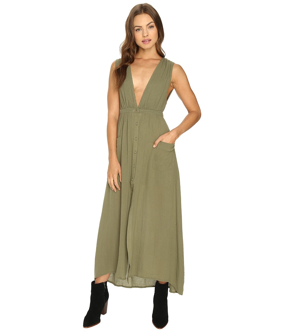 Billabong - Voyager Maxi Dress (Moss) Women's Dress