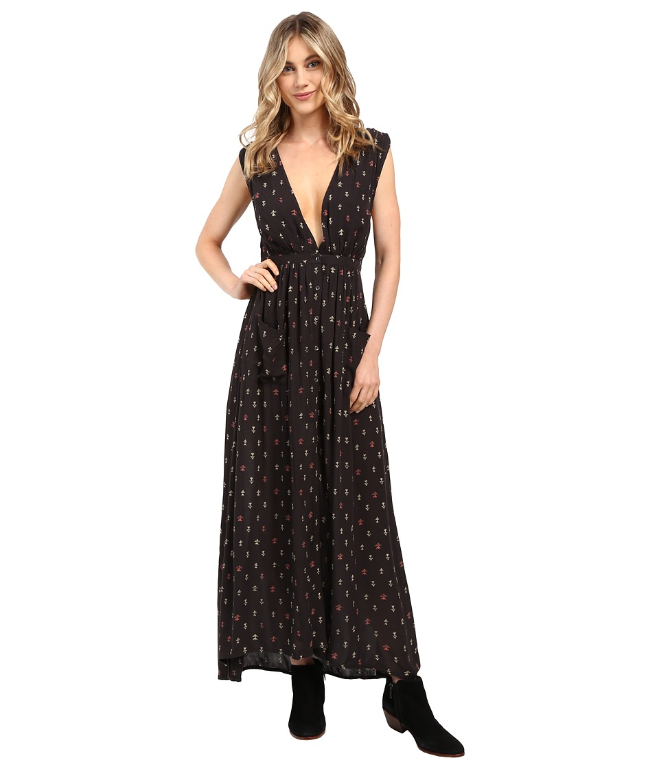 Billabong - Voyager Maxi Printed Dress (Off-Black) Women's Dress