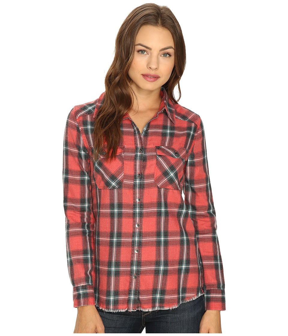 Billabong - Flannel Frenzy Top (Rad Red) Women's Long Sleeve Button Up