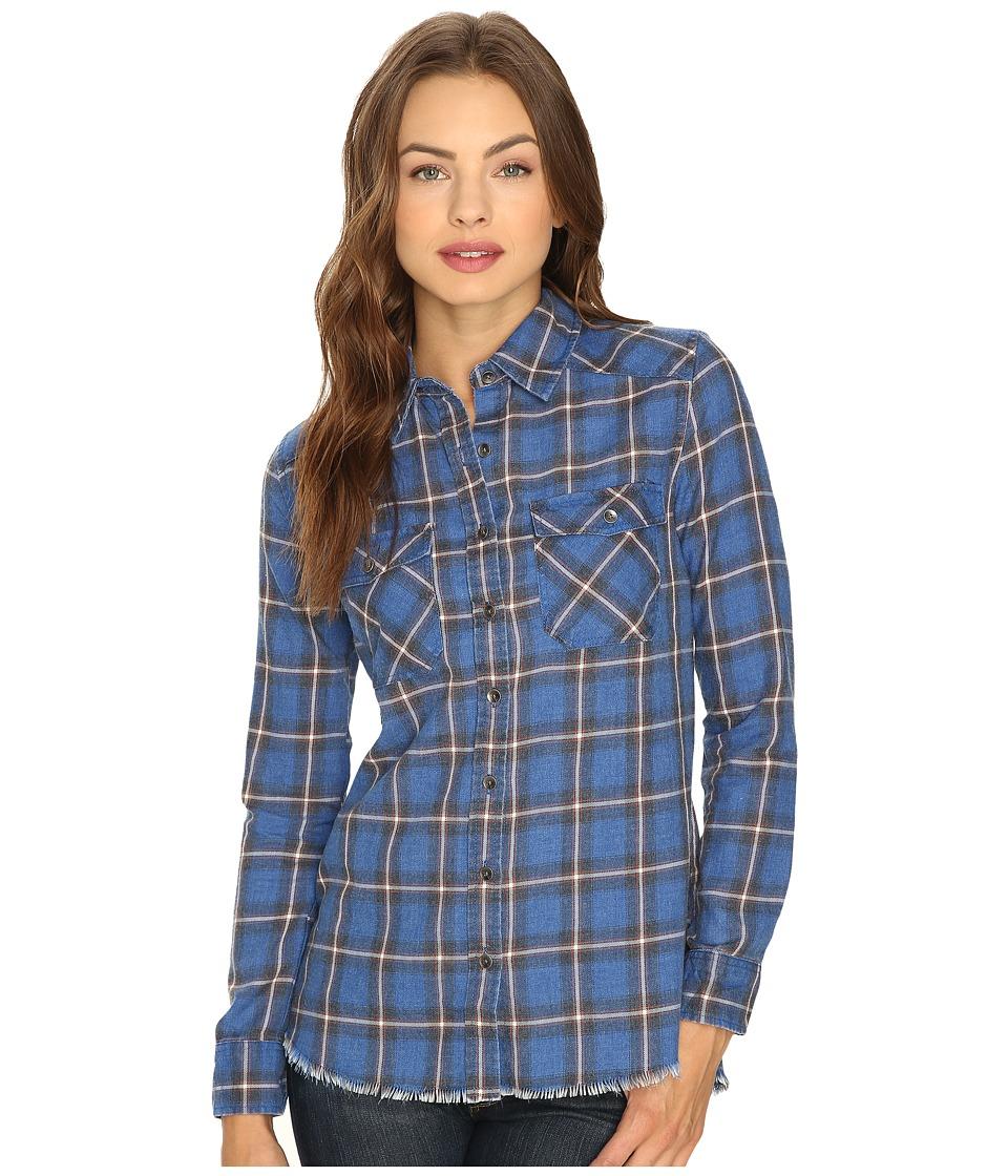 Billabong - Flannel Frenzy Top (Sapphire Blue) Women's Long Sleeve Button Up