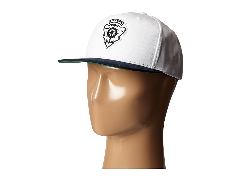 Diamond Supply Co. - Hamilton Snapback (White/Navy) Baseball Caps