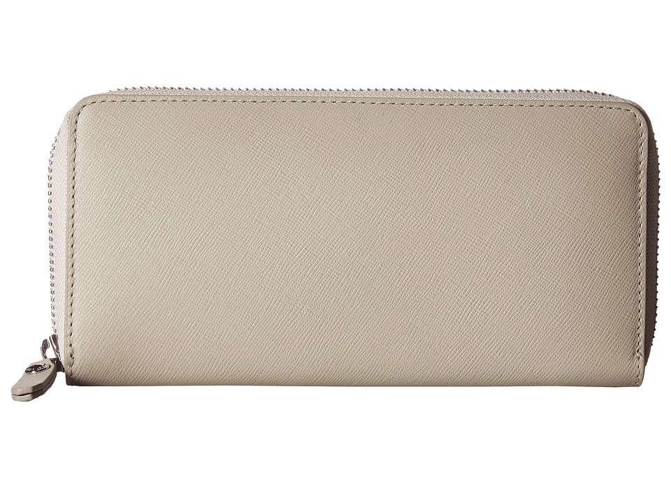 ECCO - Iola Large Zip Wallet (Gravel) Wallet Handbags