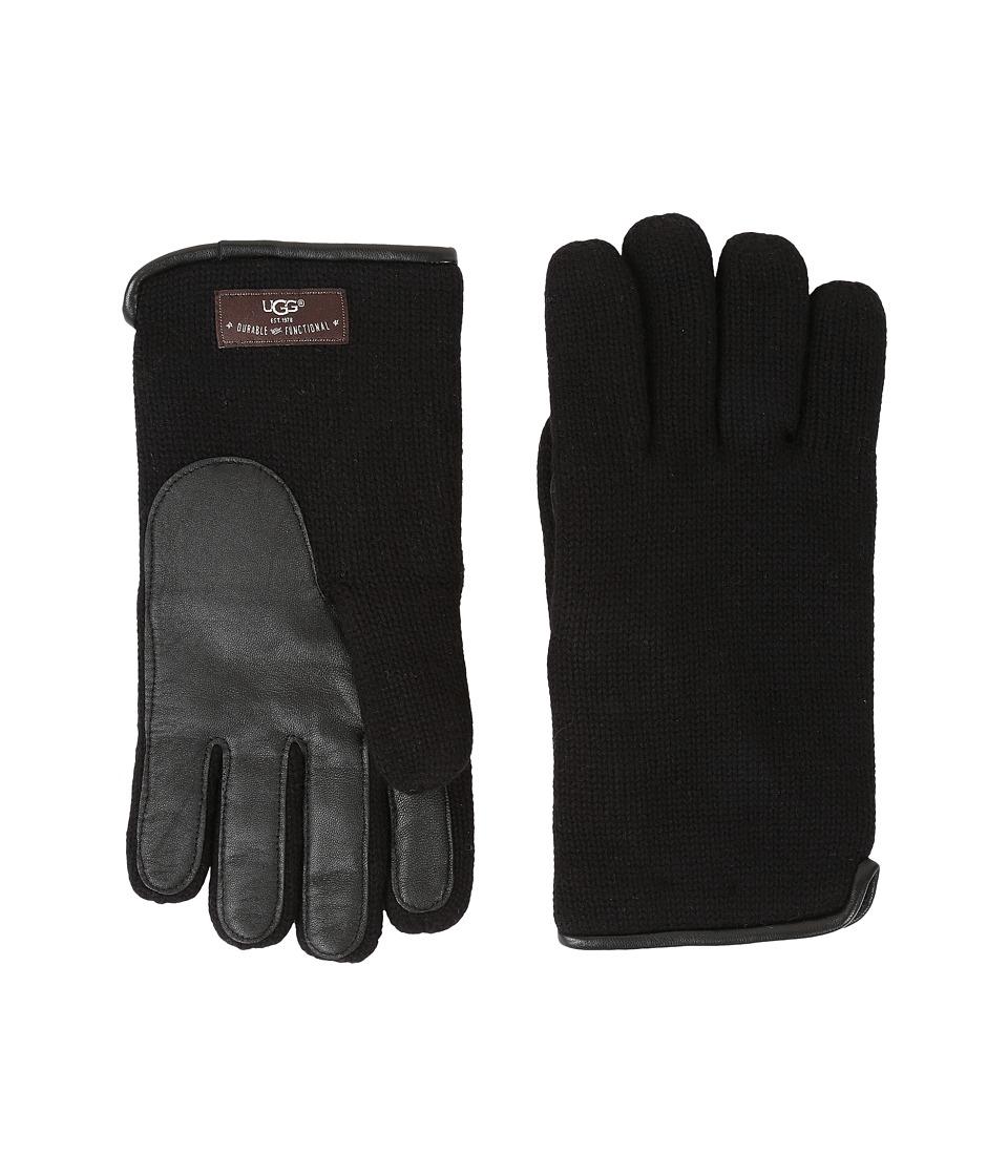 UGG - Knit Tech Solid Gloves (Black) Wool Gloves