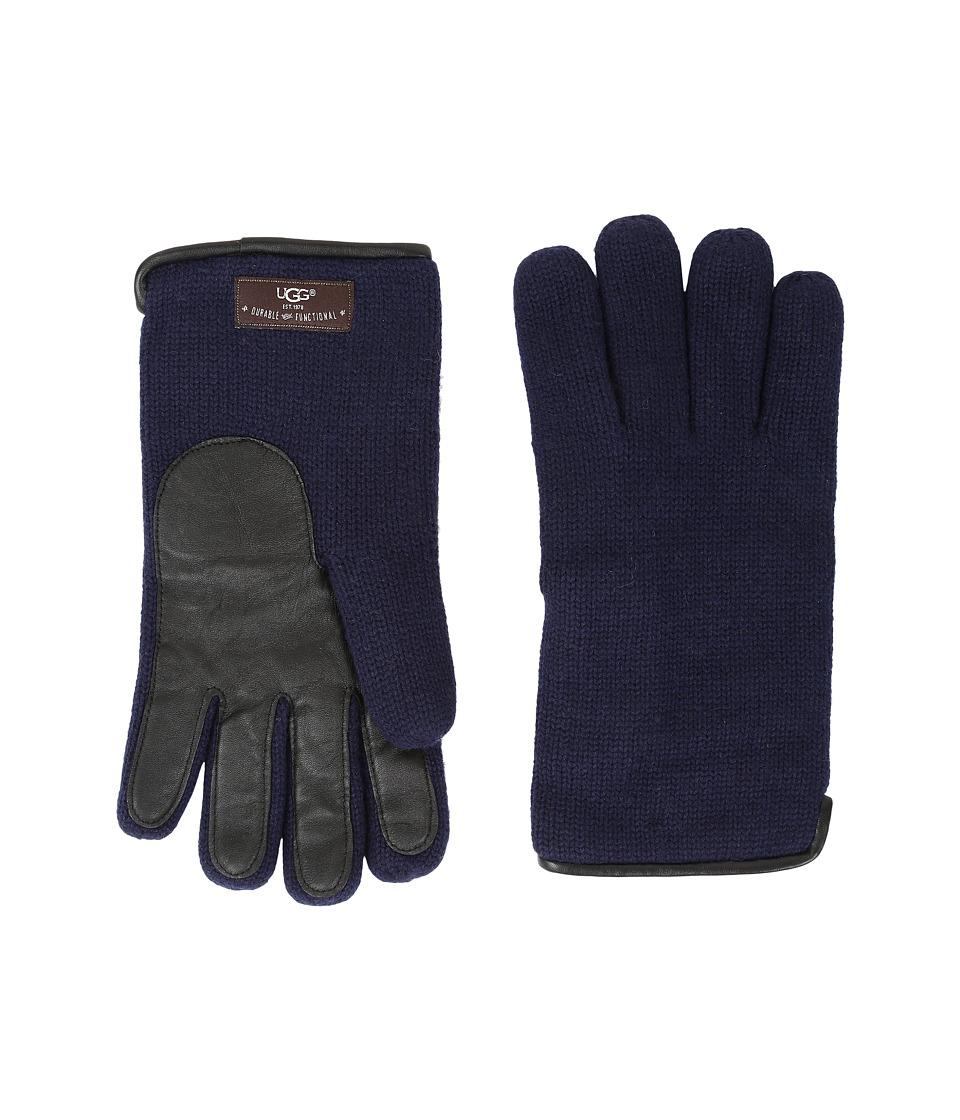 UGG - Knit Tech Solid Gloves (Navy) Wool Gloves