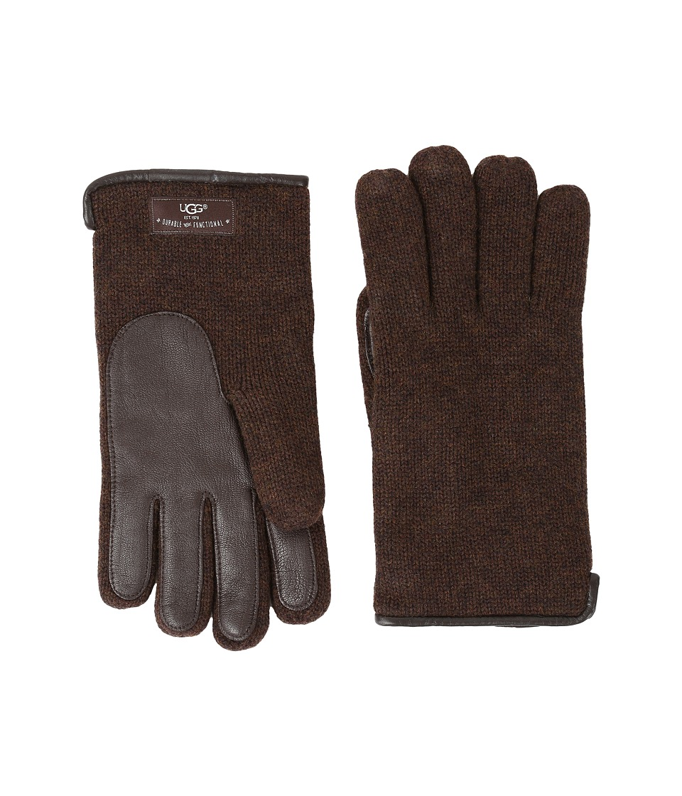 UGG - Knit Tech Solid Gloves (Stout Heather) Wool Gloves