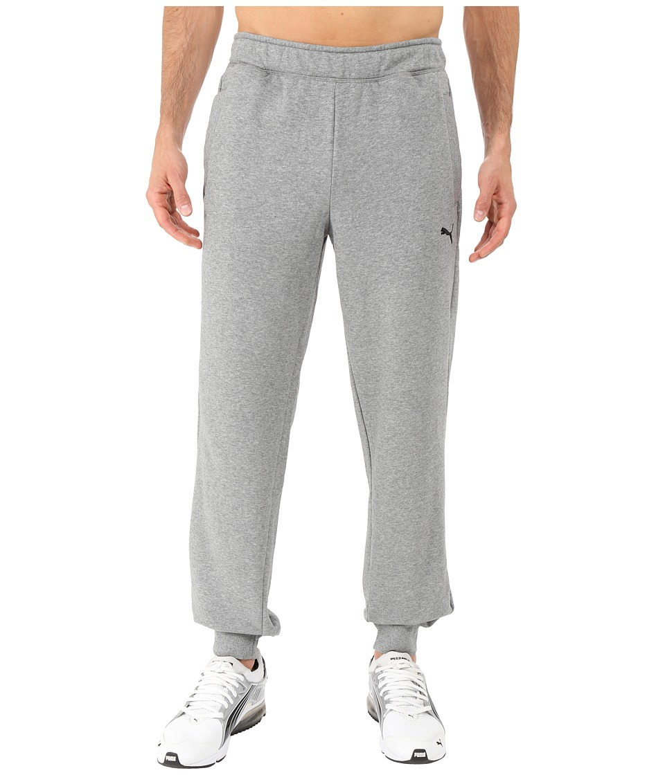 PUMA - ESS Sweatpants French Terry Closed Bottom (Medium Gray Heather) Men's Workout