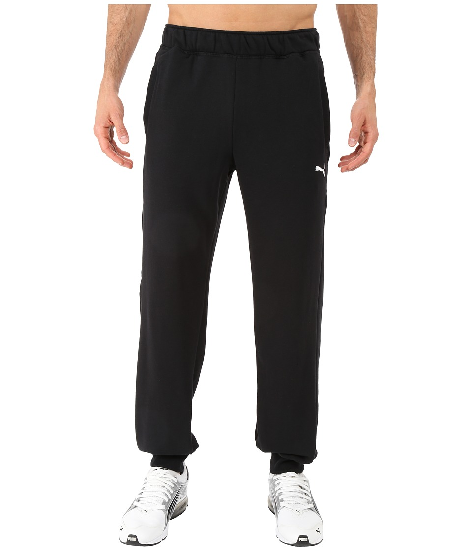 PUMA - ESS Sweatpants French Terry Closed Bottom (Black) Men's Workout