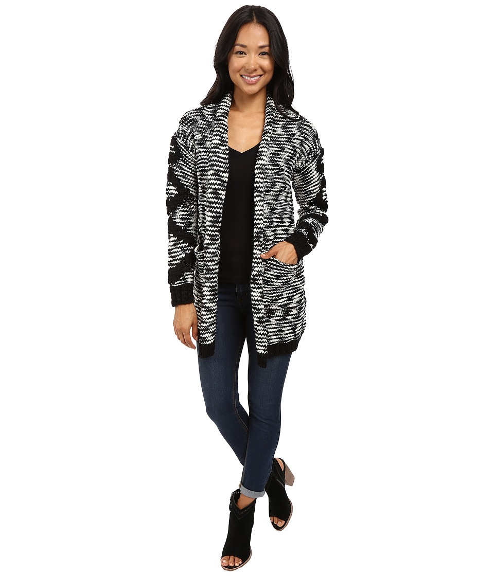 Billabong - Shoreline Drive Cardigan (Black/White) Women's Sweater