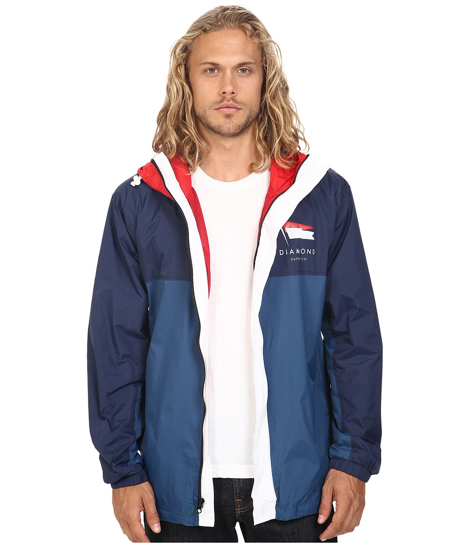 Diamond Supply Co. - Yacht Windbreaker (Navy/Light Blue) Men's Coat