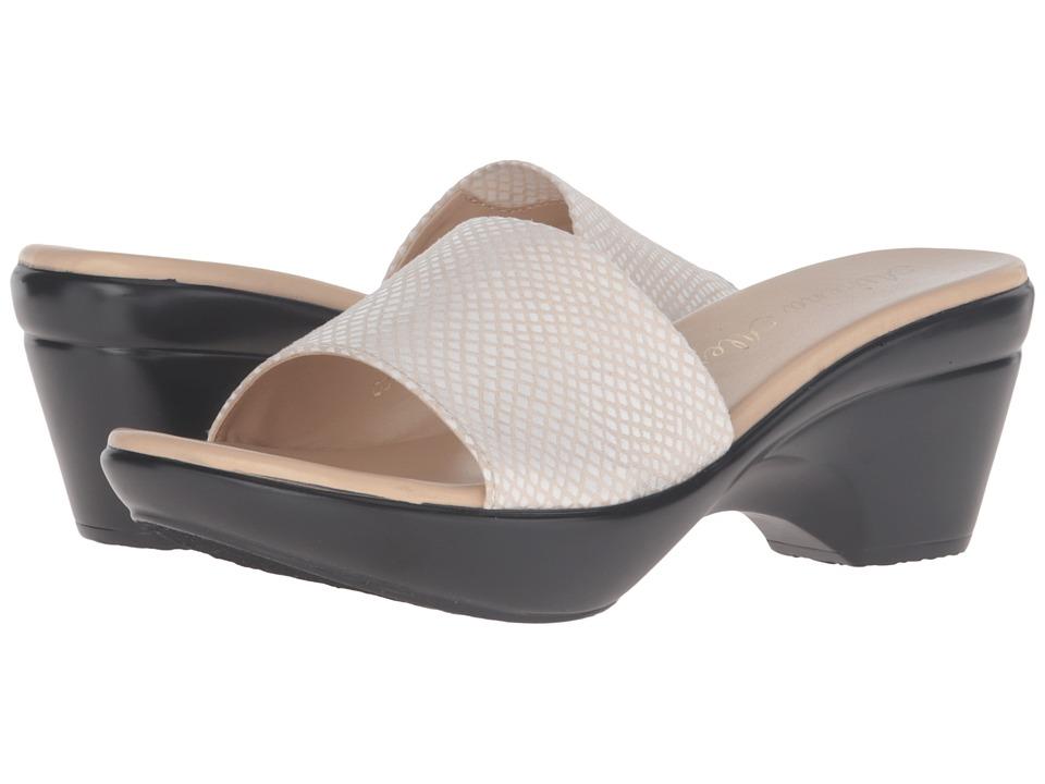 Athena Alexander - Lorie (Beige/White Snake) Women's Slide Shoes