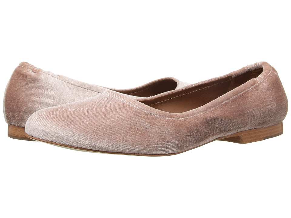 Bernardo - Dina (Blush Velvet) Women's Flat Shoes