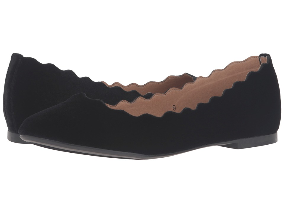 Athena Alexander - Toffy (Black Velvet) Women's Flat Shoes