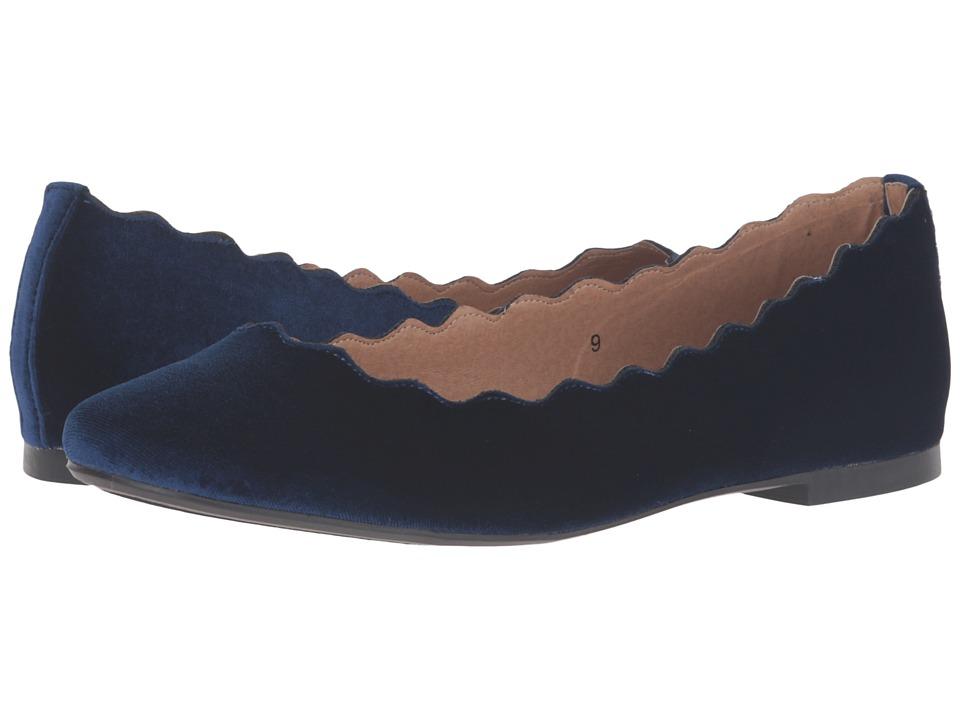 Athena Alexander - Toffy (Navy Velvet) Women's Flat Shoes