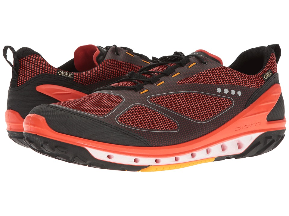 ECCO Sport - Biom Venture GTX (Black/Fire/Fanta) Men's Tennis Shoes
