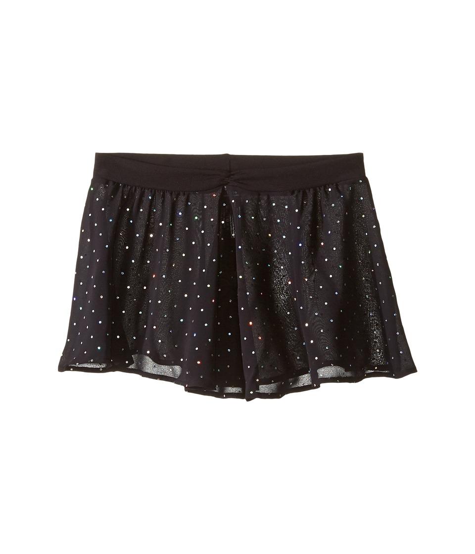 Bloch Kids - Georgette Sequin Dot Skirt (Little Kids/Big Kids) (Black) Girl's Skirt