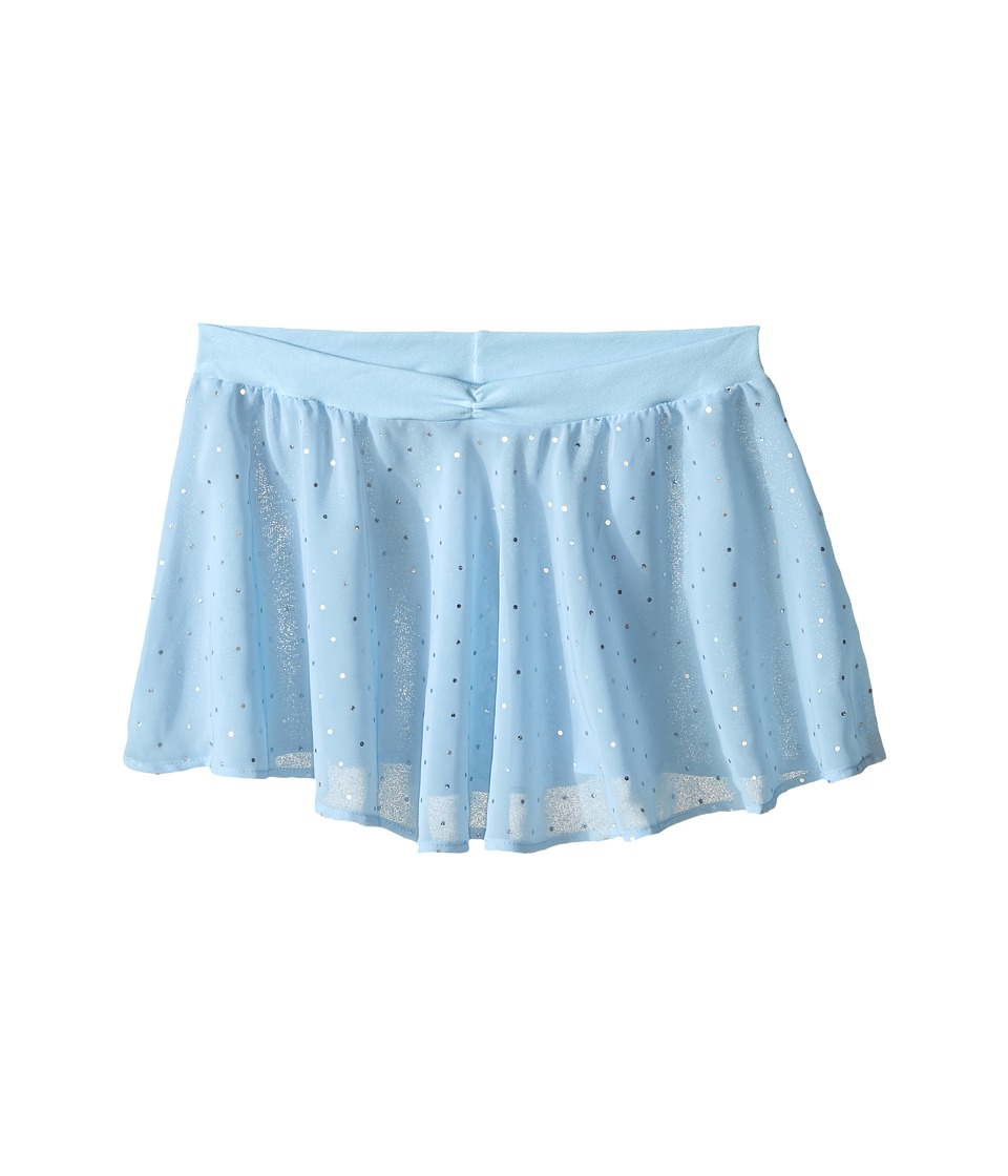 Bloch Kids - Georgette Sequin Dot Skirt (Little Kids/Big Kids) (Pastel Blue) Girl's Skirt