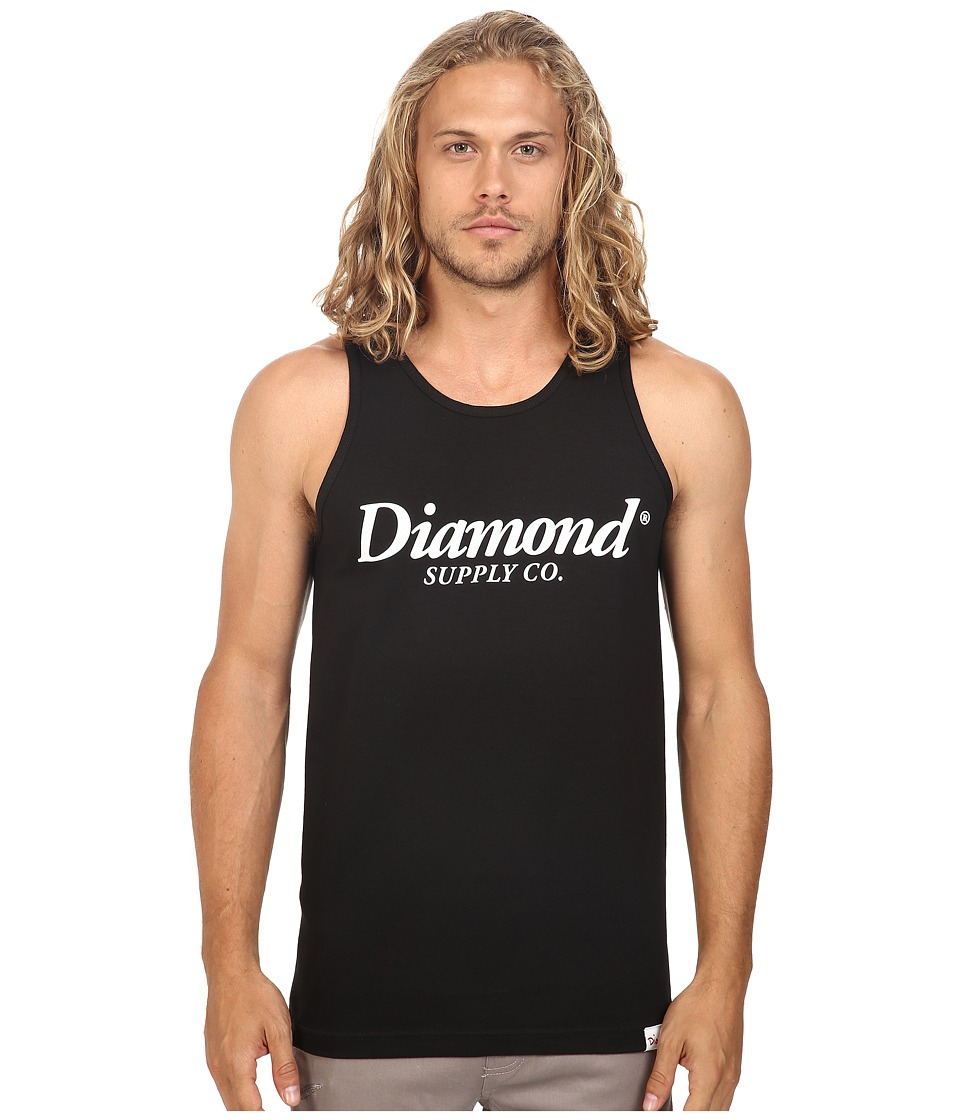 Diamond Supply Co. - Typeset Tank Top (Black) Men's Sleeveless