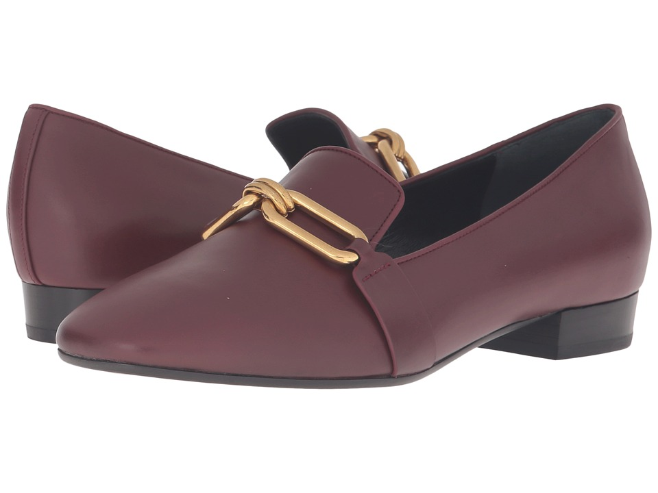 Michael Kors - Lennox Loafer (Burgundy Smooth Calf) Women's Slip on Shoes