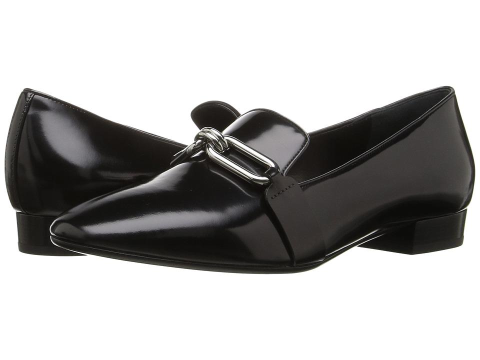 Michael Kors - Lennox Loafer (Black Spazzolato) Women's Slip on Shoes