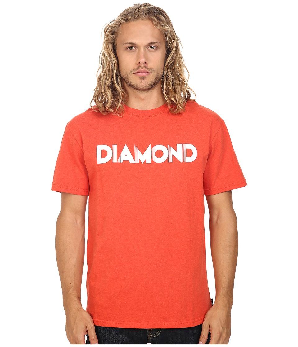 Diamond Supply Co. - Deco Block Short Sleeve Tee (Heather Red) Men's T Shirt