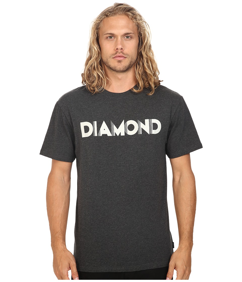 Diamond Supply Co. - Deco Block Short Sleeve Tee (Heather Black) Men's T Shirt