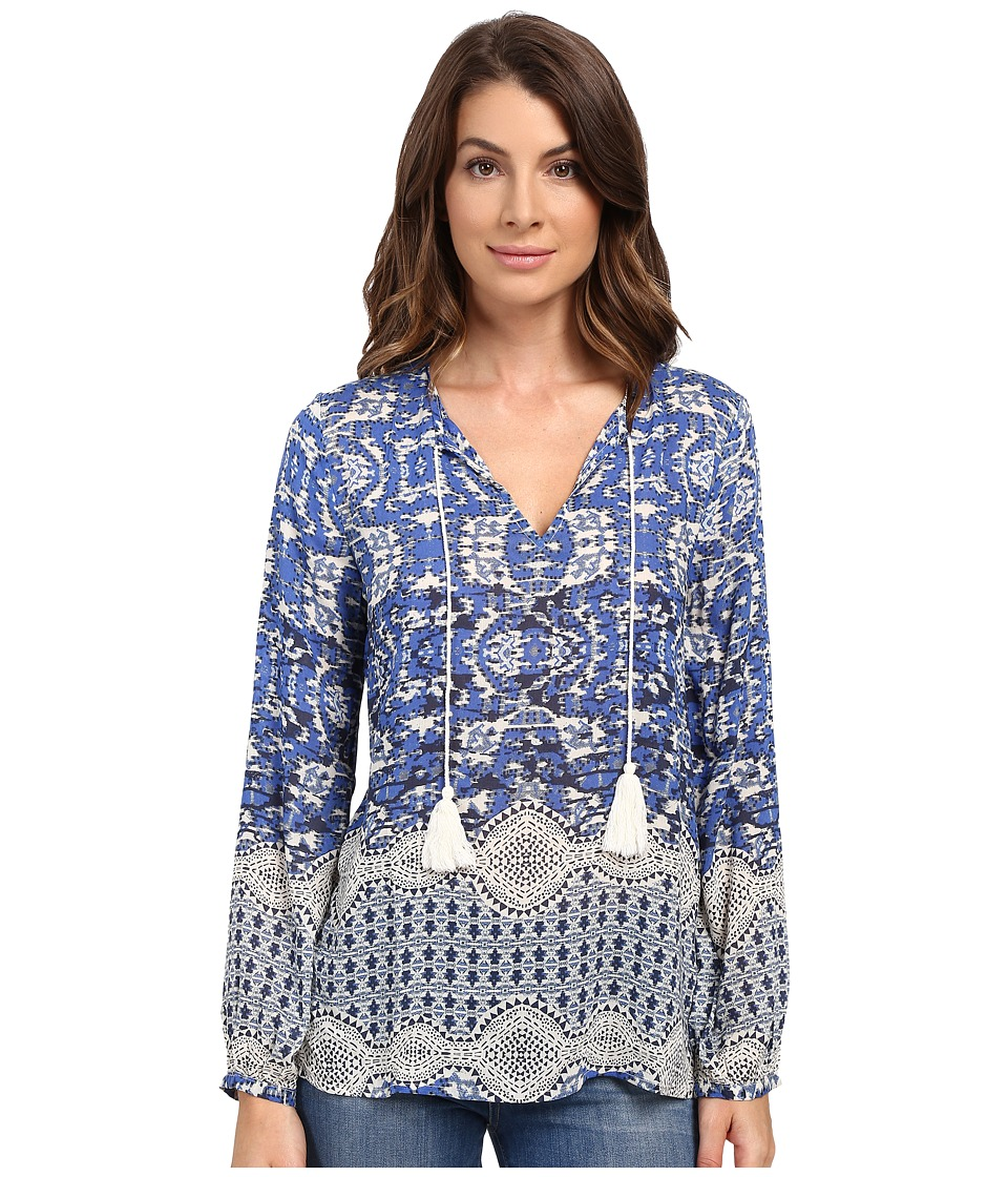 Dylan by True Grit - Bohemian Chloe Blouse (Indigo) Women's Blouse