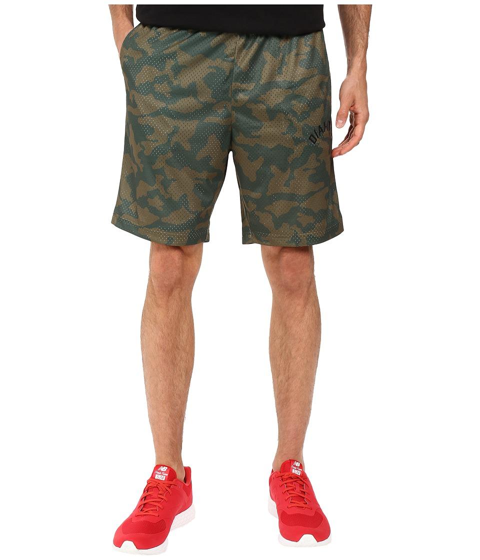 Diamond Supply Co. - Diamond Arch Basketball Shorts (Olive Camo) Men's Shorts