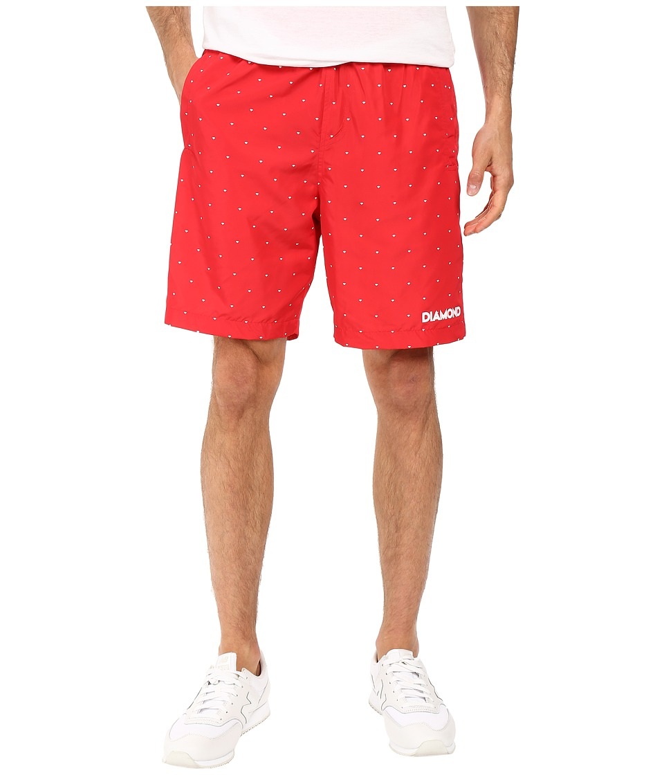 Diamond Supply Co. - Deco Trainer Shorts (Red) Men's Shorts