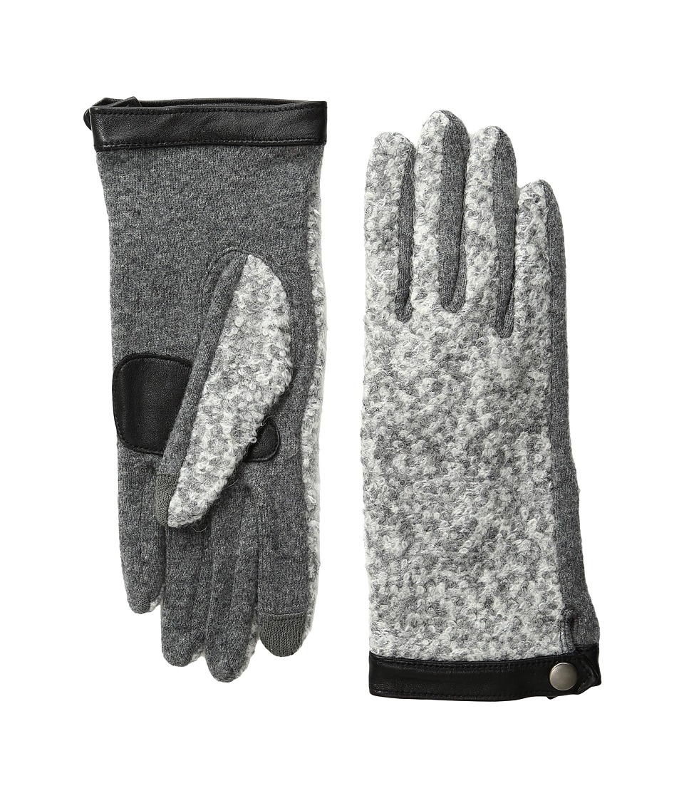 Echo Design - Echo Touch Basic Boucle Gloves (Heather Grey) Extreme Cold Weather Gloves