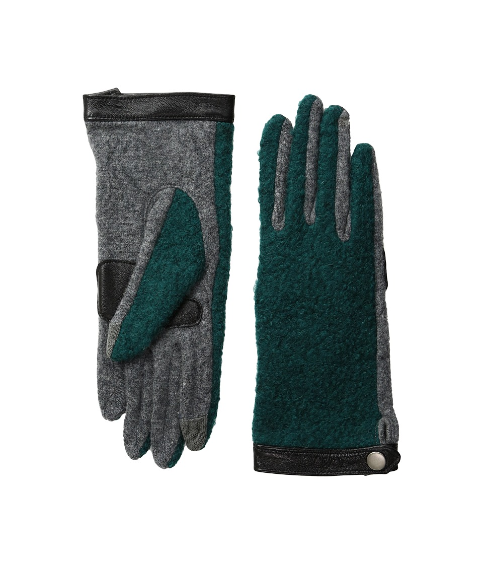 Echo Design - Echo Touch Basic Boucle Gloves (Forest Green) Extreme Cold Weather Gloves