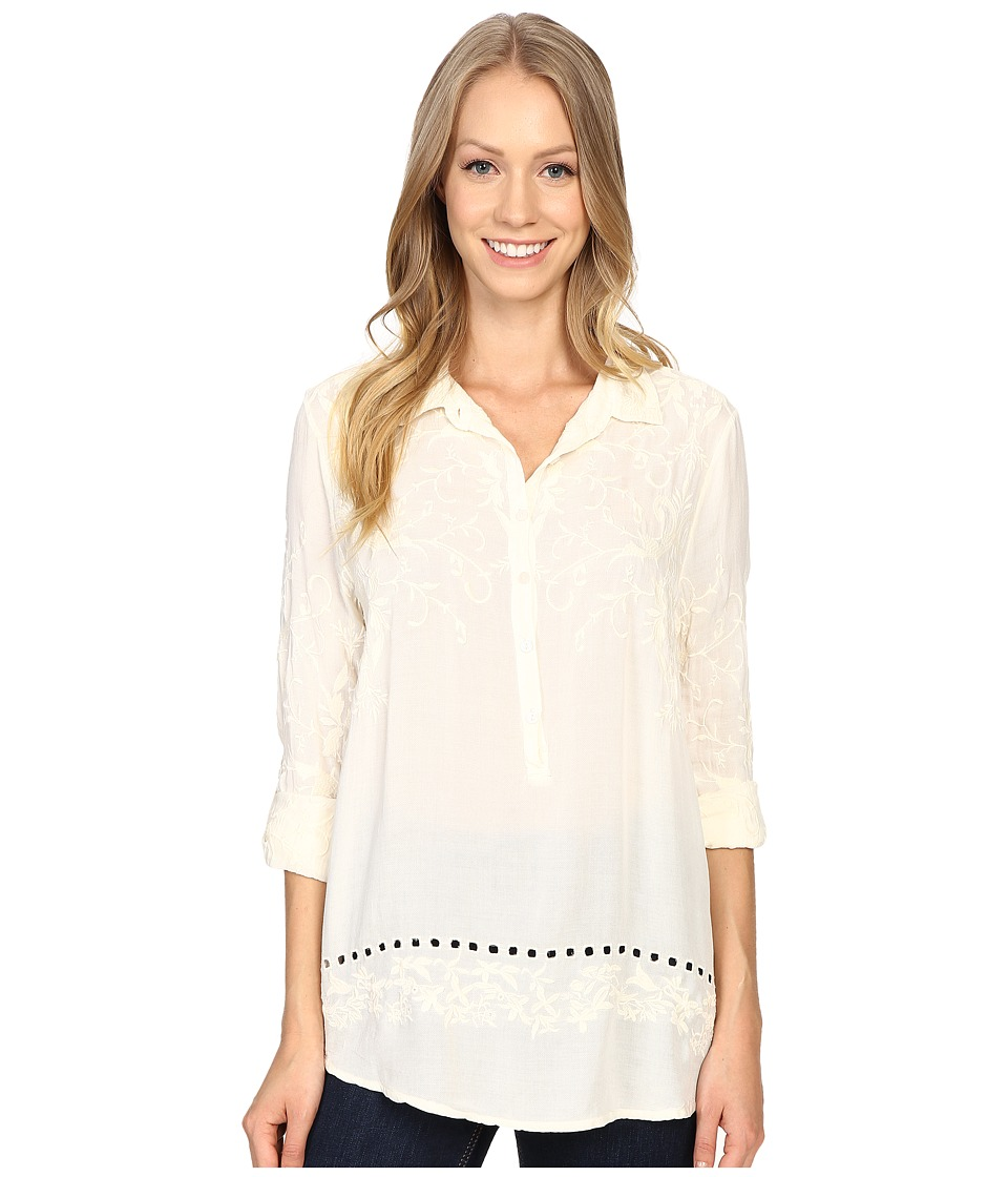 Dylan by True Grit - Embroidered Tunic (Chalk) Women's Clothing