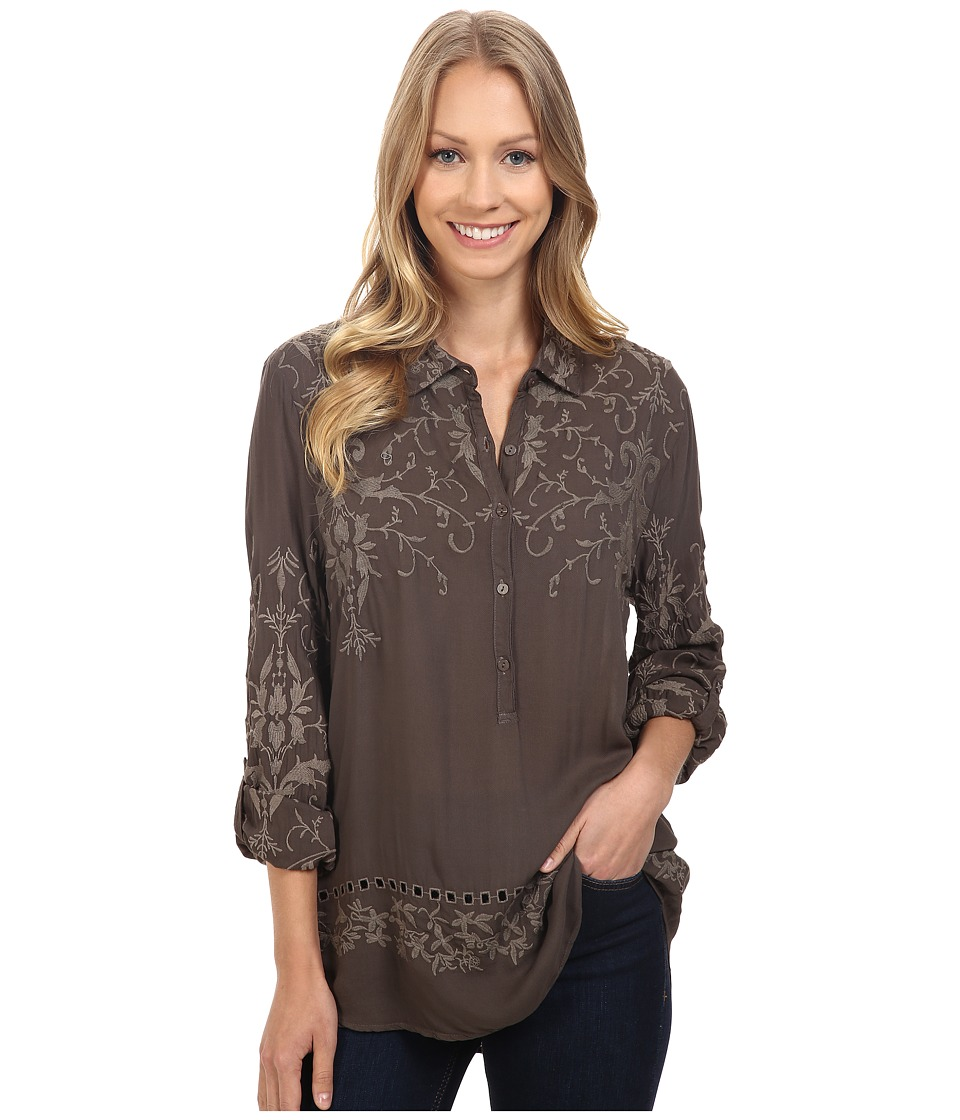 Dylan by True Grit - Embroidered Tunic (Elm) Women's Clothing