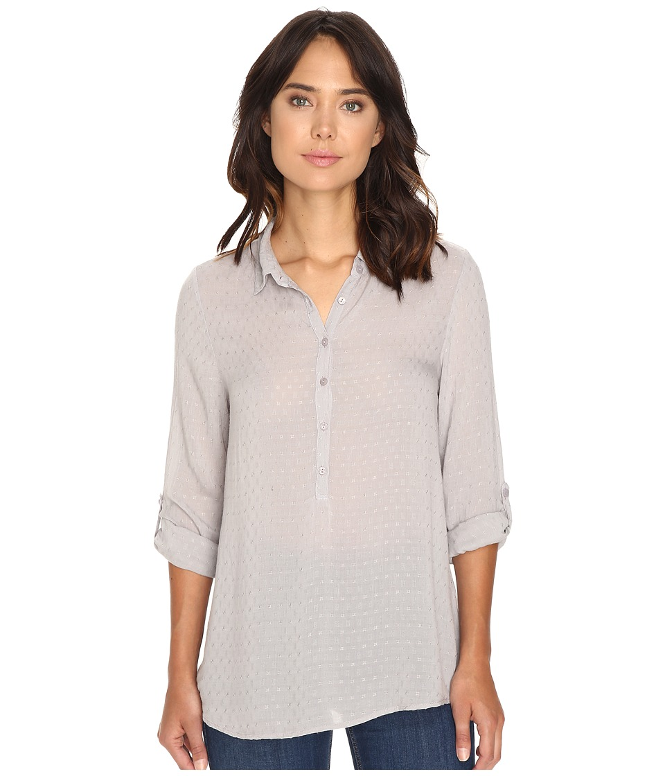 Dylan by True Grit - Dobby Tunic with Roll Sleeves (Heather) Women's Clothing