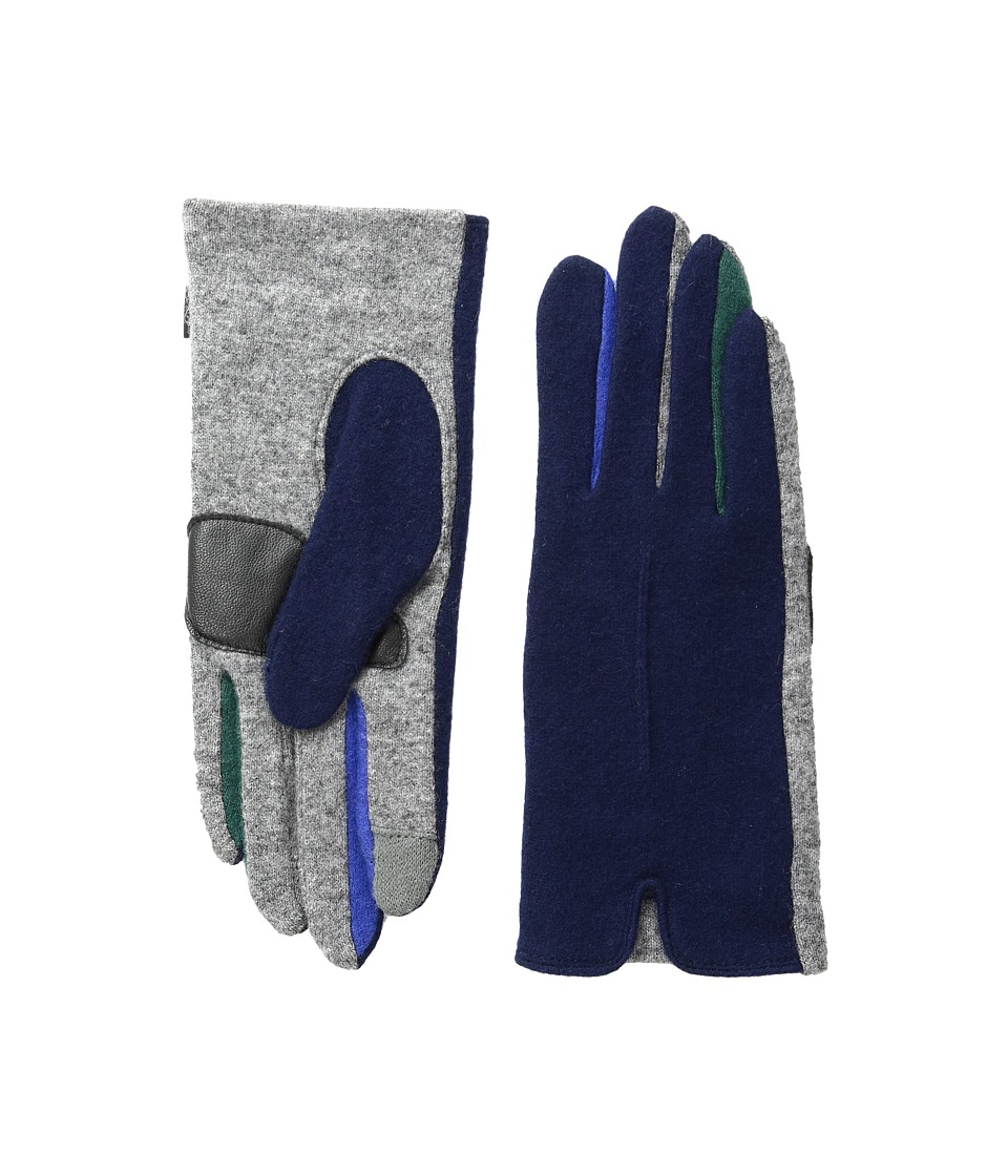 Echo Design - Echo Touch Color Block Frchette Gloves (Navy) Extreme Cold Weather Gloves