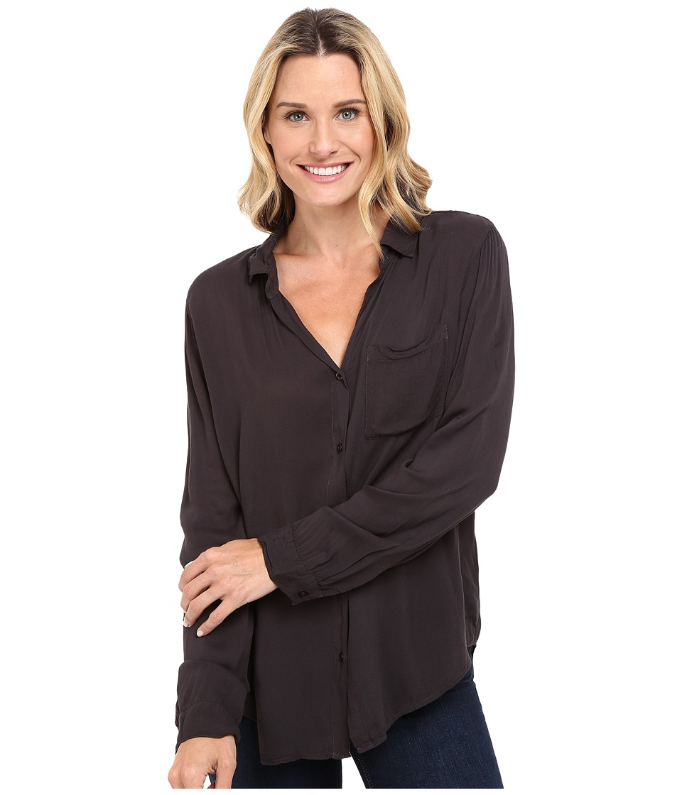 Dylan by True Grit - Soft Classic Blouse (Soft Black) Women's Blouse