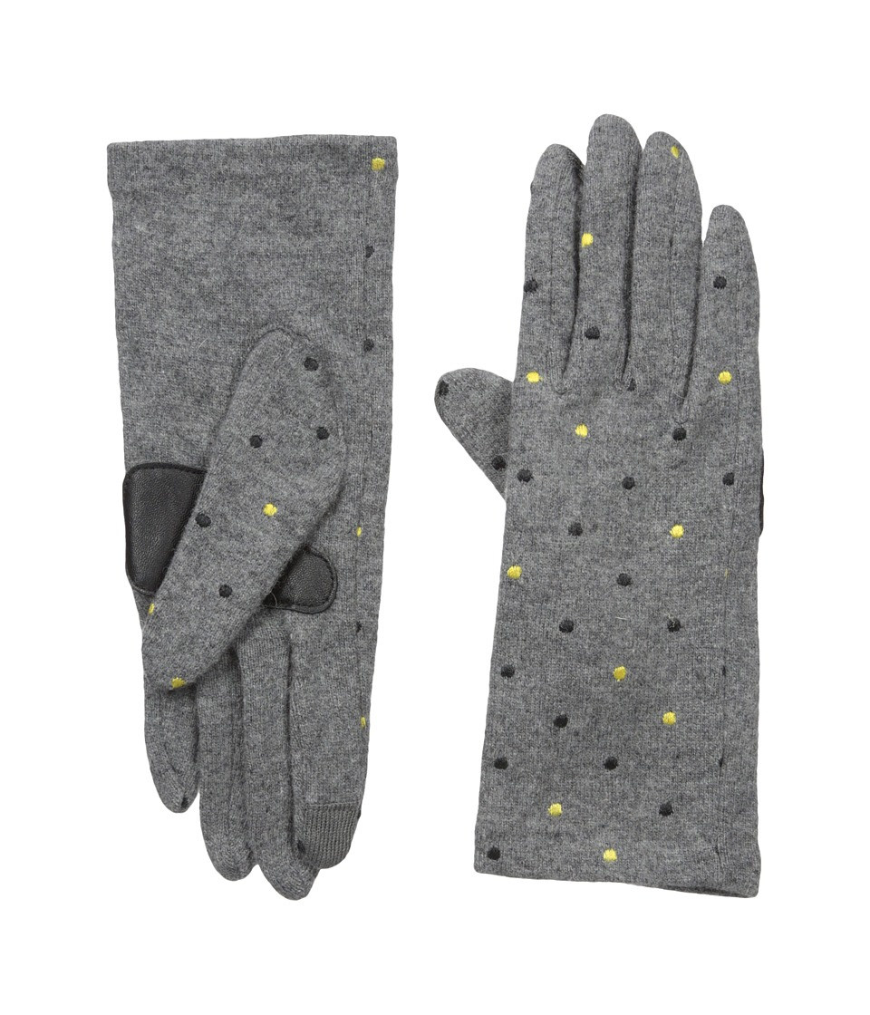 Echo Design - Echo Touch Pop Dot Gloves (Heather Grey) Extreme Cold Weather Gloves
