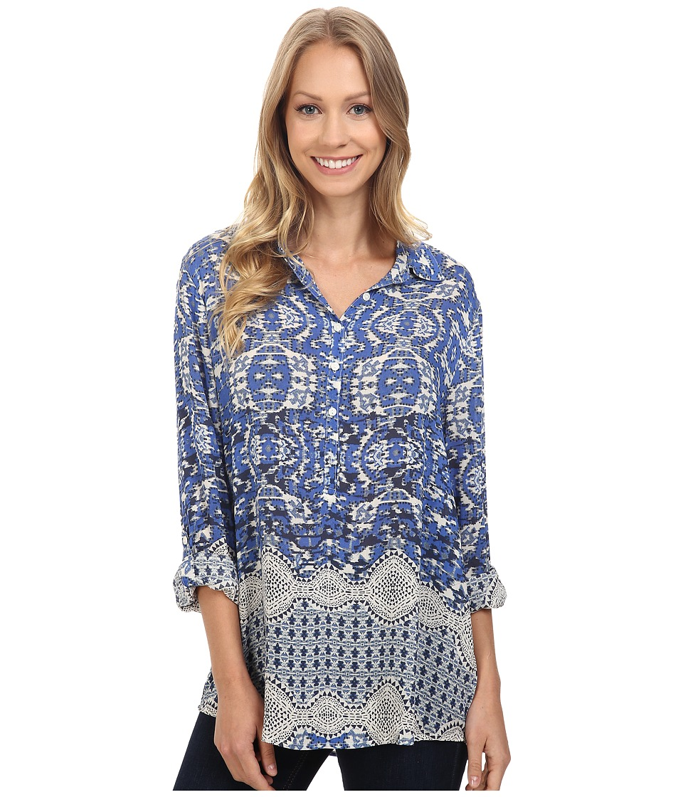 Dylan by True Grit - Bohemian Tunic (Indigo) Women's Clothing