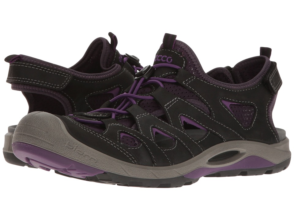ECCO Sport - Biom Delta Off Road (Black/Imperial Purple) Women's Shoes