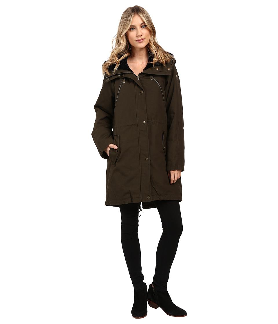 Vince Camuto - Faux Fur Trim Parka L1051 (Olive/Navy) Women's Coat