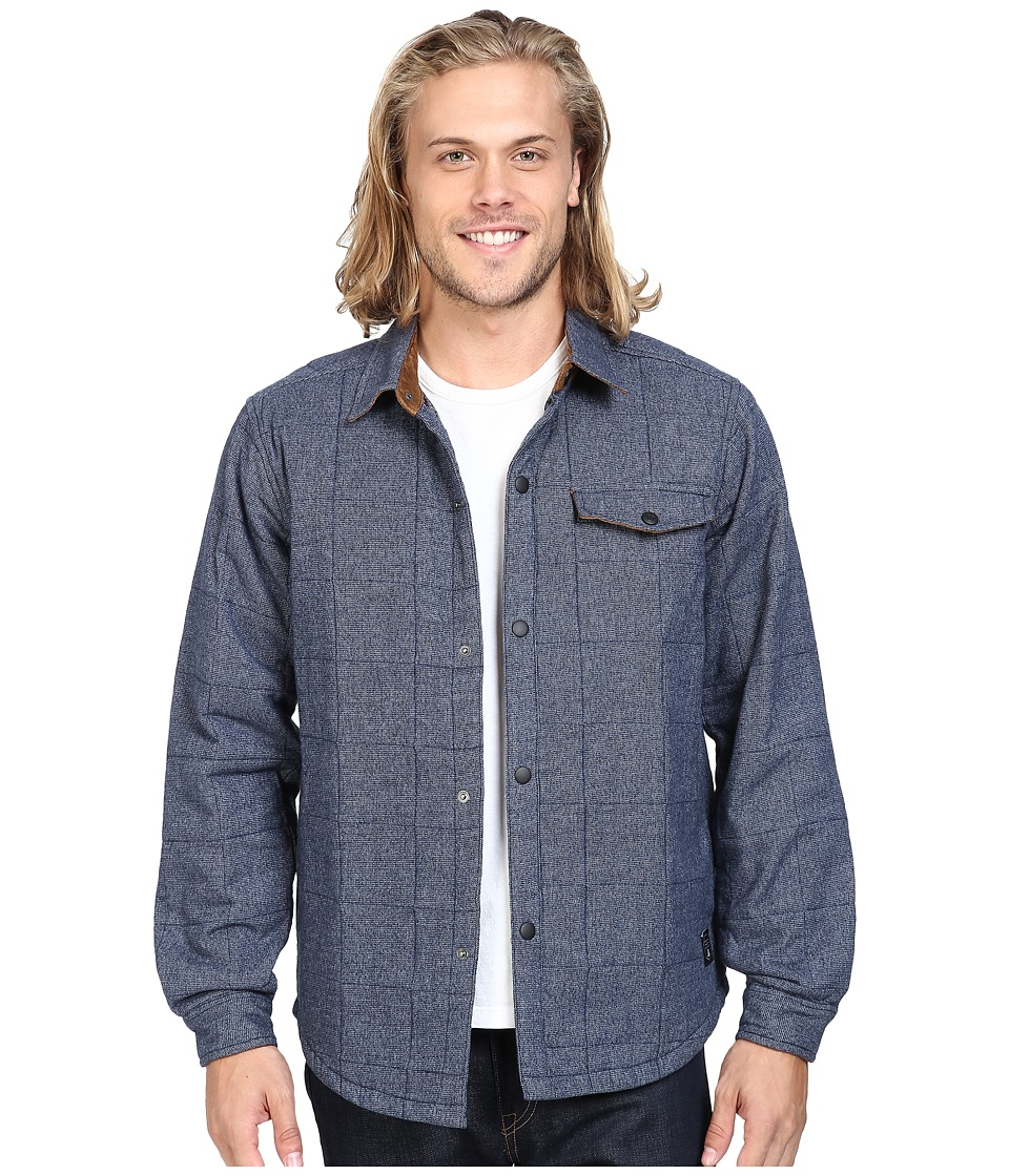 VISSLA - Cronkhite 100% Cotton Shirt Jacket (Dark Navy) Men's Coat