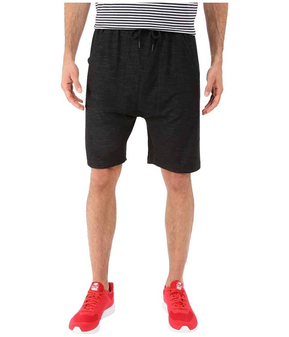Publish - Danar - Reverse Terry Shorts (Black) Men's Shorts