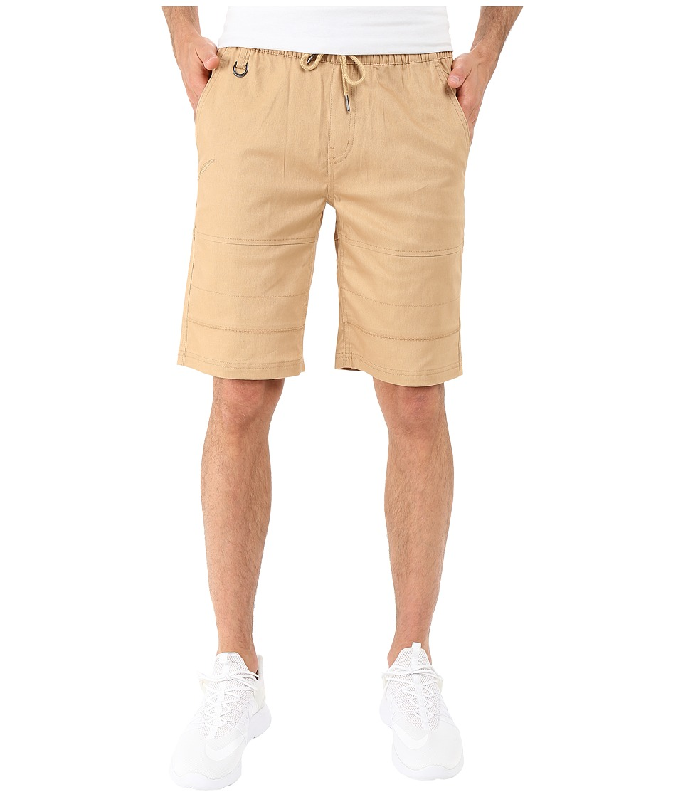 Publish - Bain - Stretch Twill Shorts (Khaki) Men's Shorts