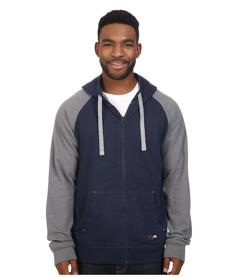 The North Face - Wicker Full Zip Hoodie (Cosmic Blue Heather/TNF Medium Grey Heather) Men's Sweatshirt